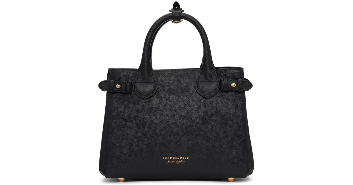 763af640add8 Lyst - Burberry Black Small Banner Tote in Black