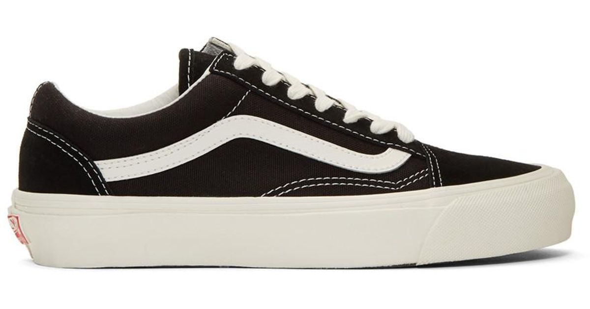 6348a28fa06b Lyst - Vans Black And Off-white Og Old Skool Lx Sneakers in Black for Men