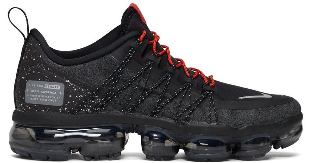 Lyst - Nike Black And Red Air Vapormax Run Utility Sneakers in Black for Men f17cc0d86