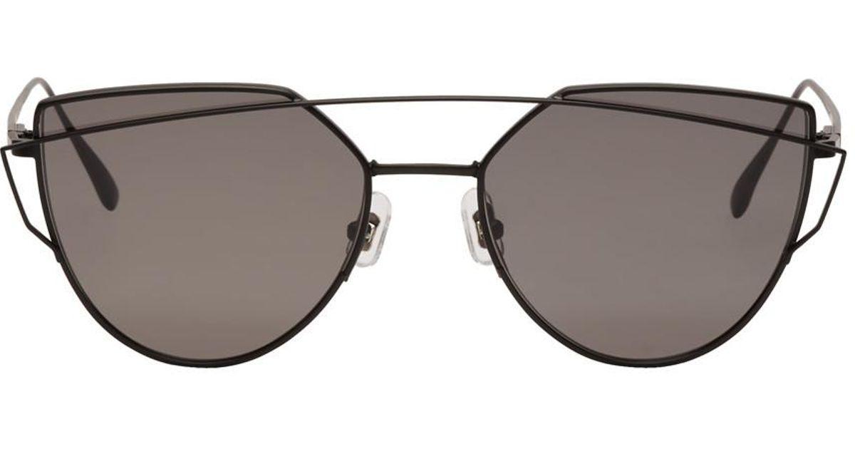 0f7e87b7b3c6 Lyst - Gentle Monster Black Love Punch Sunglasses in Black