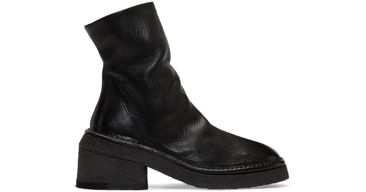 c85e79ce7463b Lyst - Bottes noires Buraccia Marsèll en coloris Noir