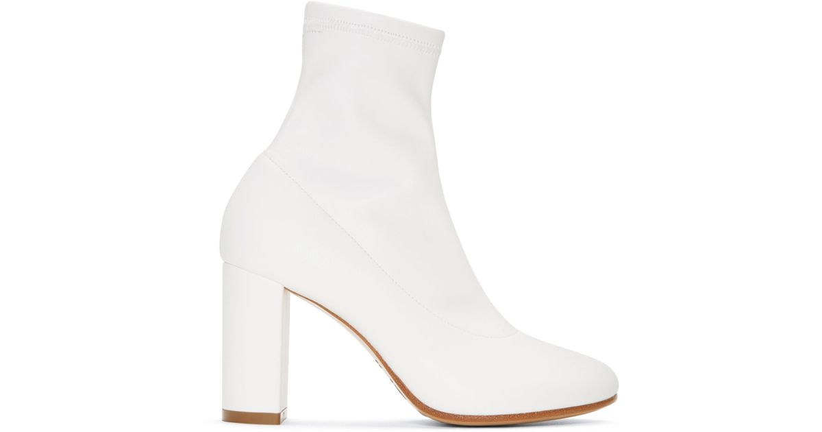 White Cut Heel Banded Boots Maison Martin Margiela Recommend Discount zcrC1lrEq8