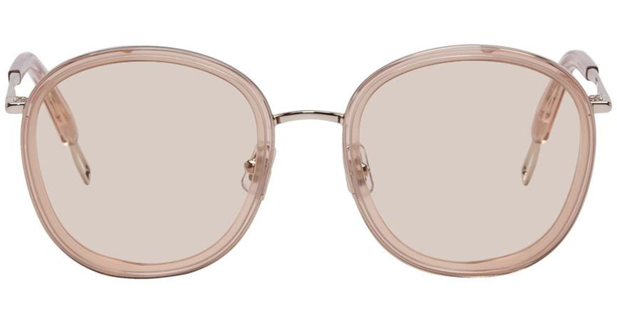 616e733ee232 Lyst - Gentle Monster Taupe And Silver Ollie Sunglasses in Metallic for Men