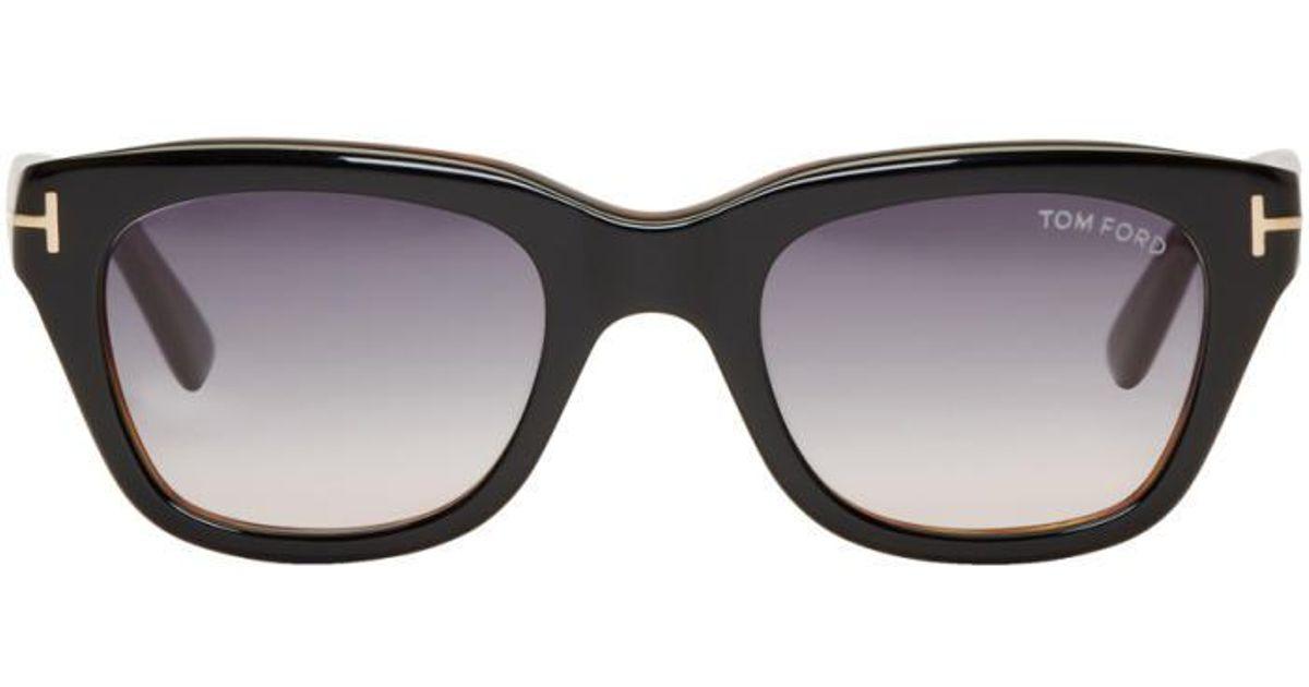 90c987de7e Tom Ford Black Snowdon Sunglasses in Black - Lyst