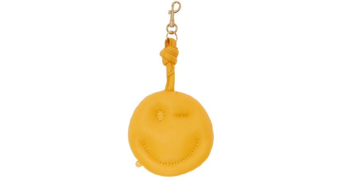 Yellow Chubby Wink Charm Keychain Anya Hindmarch RlTtLF7