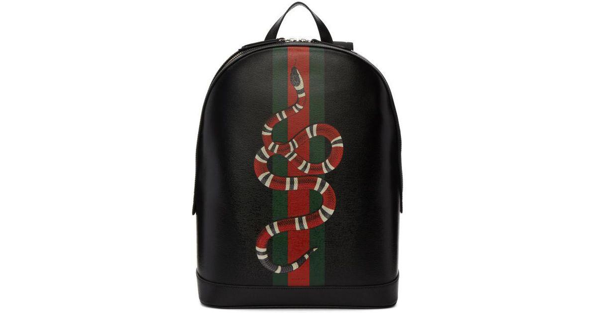 Lyst - Gucci Black Web   Kingsnake Backpack in Black for Men