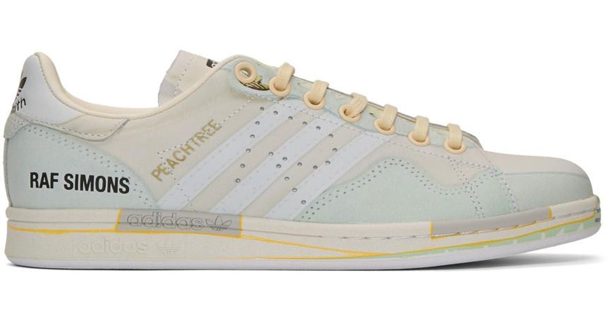new style f3b4f 6b3c9 Raf Simons Off-white Adidas Originals Edition Peachtree Stan Smith Sneakers  in White - Lyst
