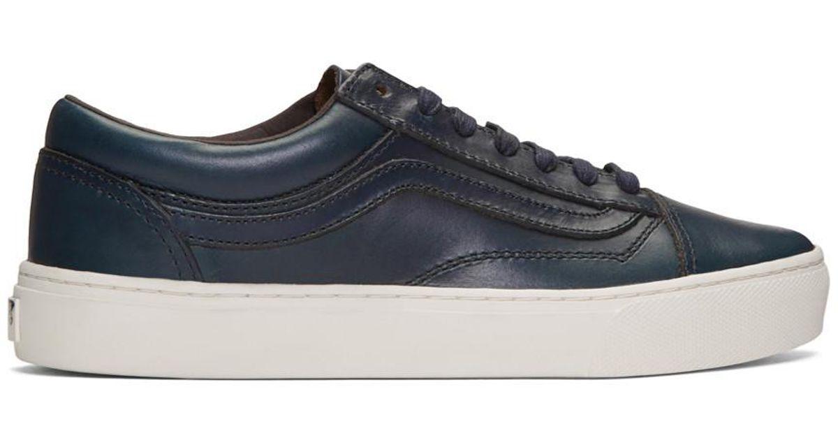 3958213209 Lyst - Vans Navy Horween Edition Old Skool Cup Lx Sneakers in Blue for Men