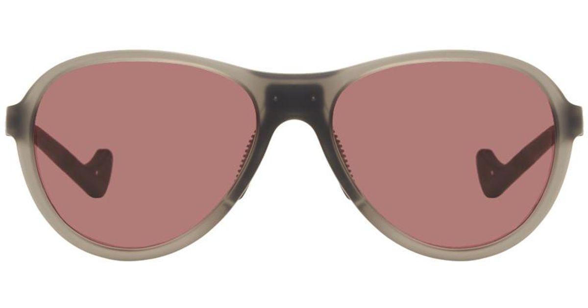 District Vision Grey & Pink Kaishiro Explorer Sunglasses B12kMPVDo