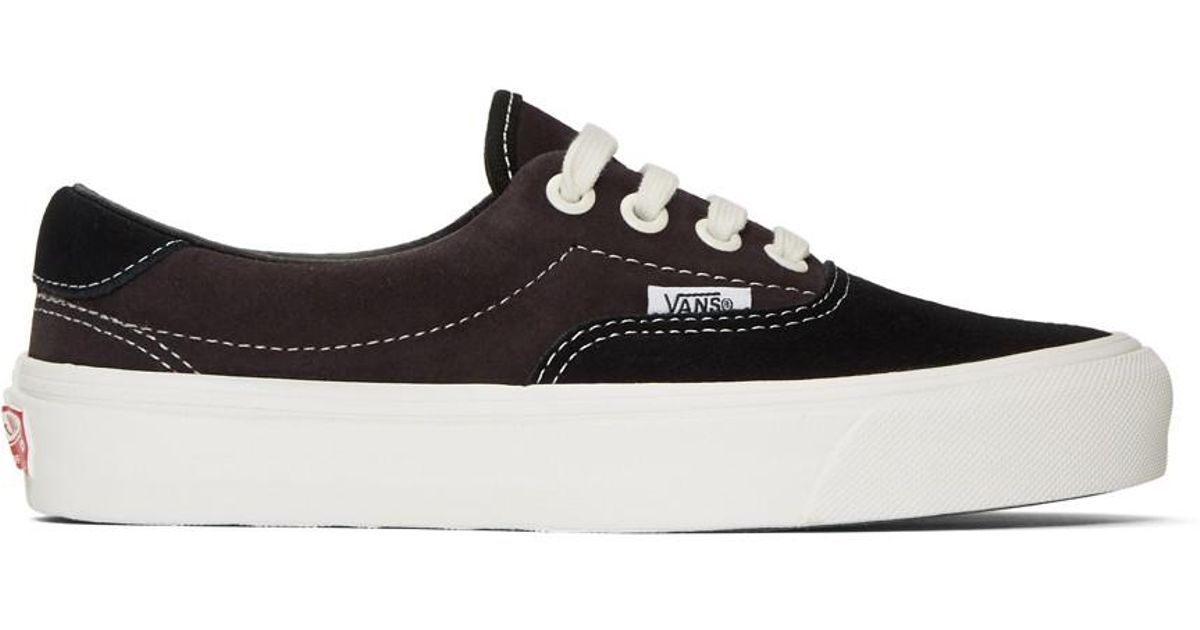 d925908f9aa Vans Black And Brown Suede Og Era 59 Lx Sneakers in Black - Save 14% - Lyst