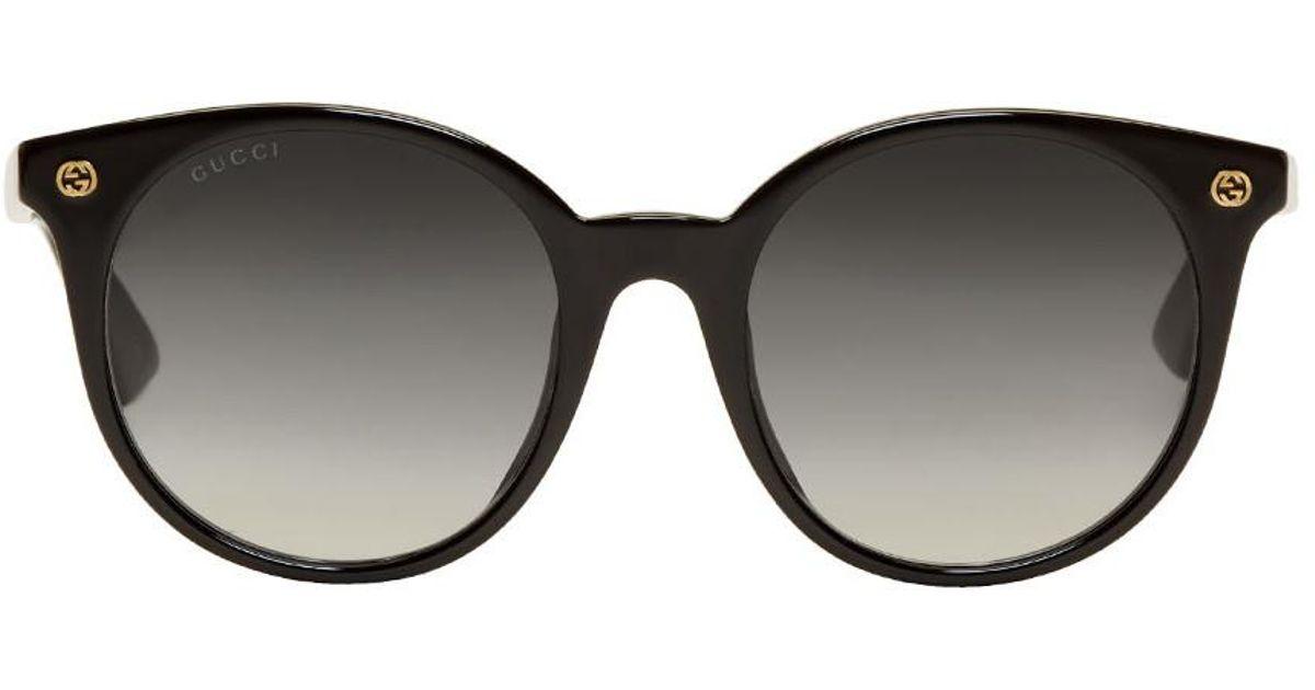 3268c6b324c Gucci Black Pantos Sunglasses in Black - Lyst