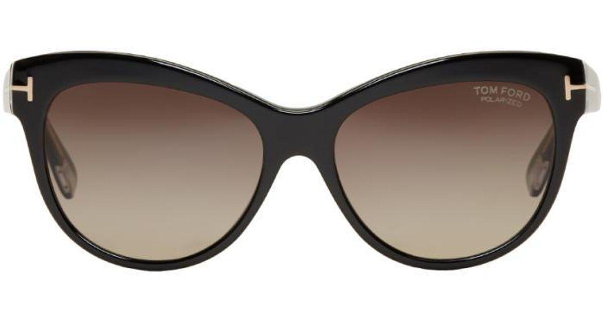 ddb9f48093e1 Lyst - Tom Ford Black Lily Cat-eye Sunglasses in Black