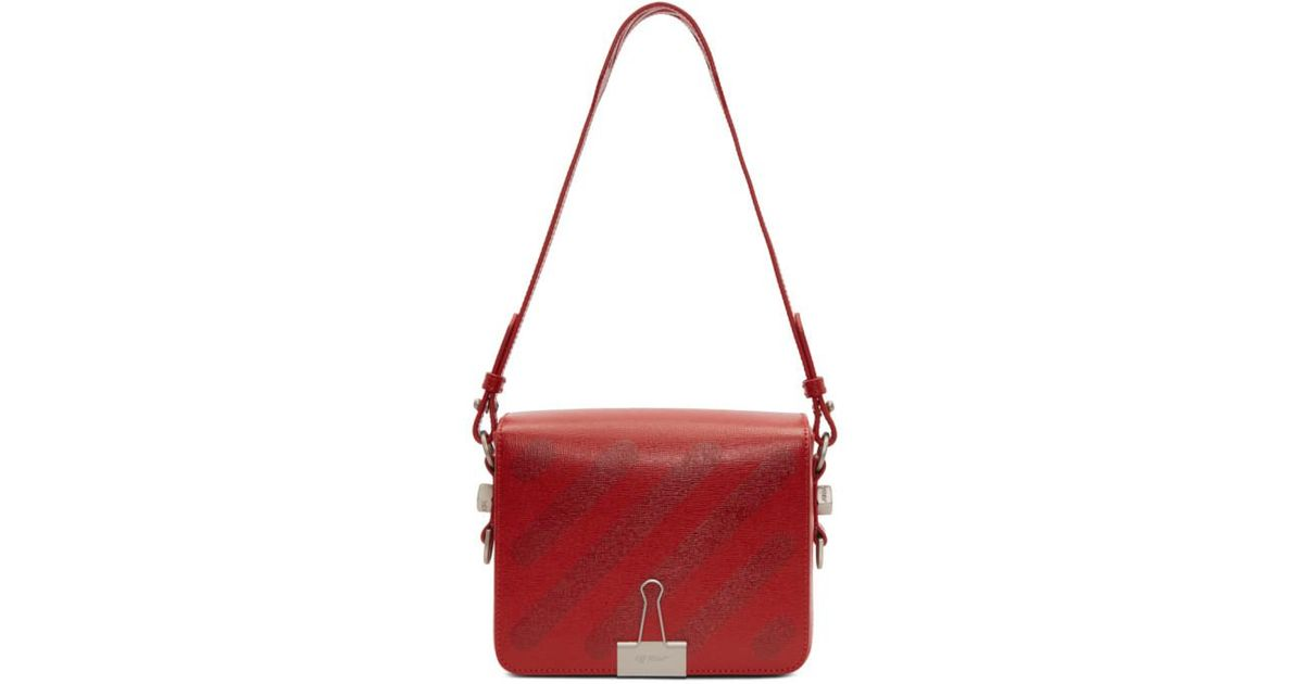 42b89d2c1fb1 Off-White C O Virgil Abloh Red Diagonal Binder Clip Bag in Red - Lyst