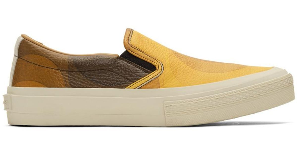 28621cb82c Lyst - Dries Van Noten Yellow And Brown Verner Panton Edition Leather  Sneakers in Brown for Men
