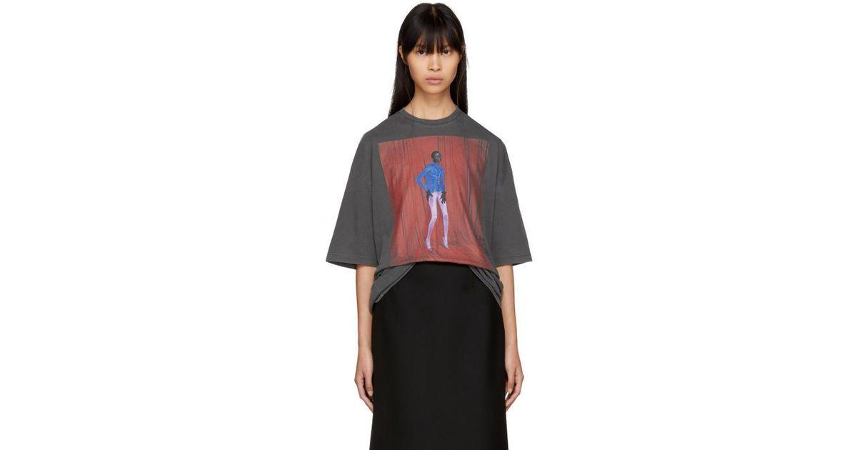 37651ddae5e7 Balenciaga Black Alek Model T-shirt in Black - Lyst
