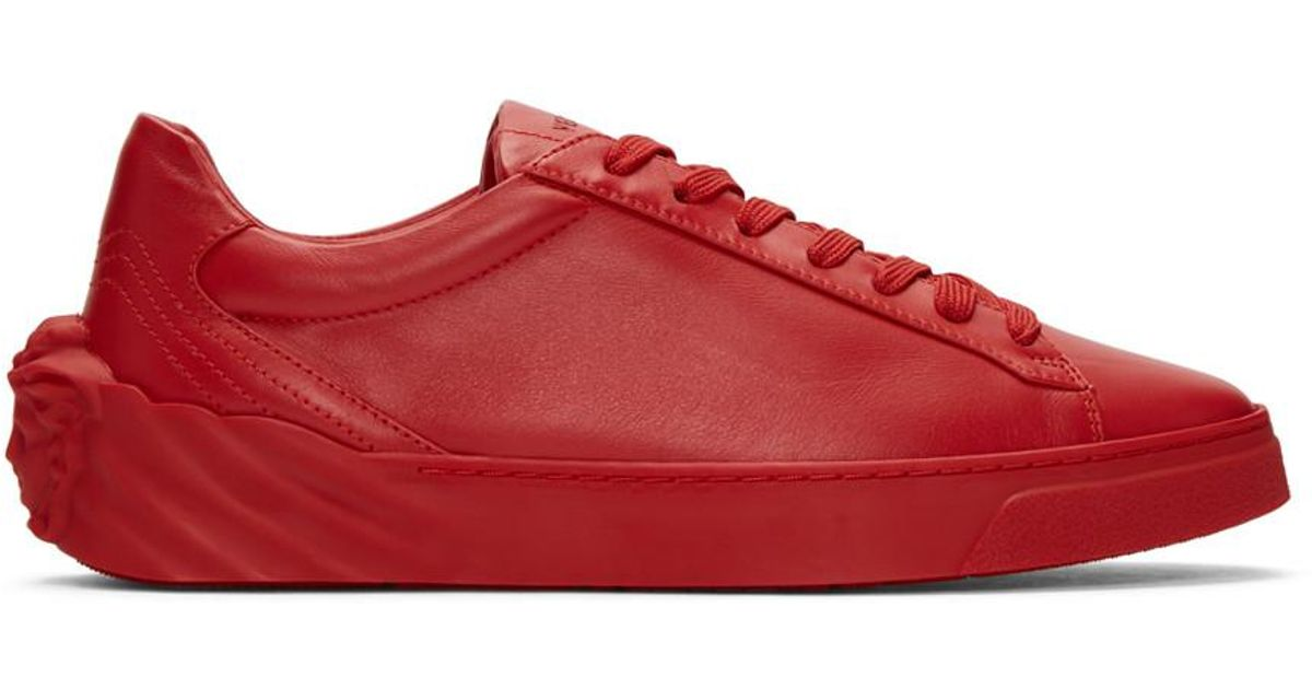 080430c9fd69 Head For Sneakers Back In Medusa Versace Red Men Lyst 0xqwPXIpT