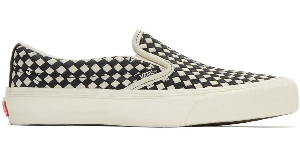 Vans Black & White Taka Hayashi Edition Slip-On 66 LX Sneakers
