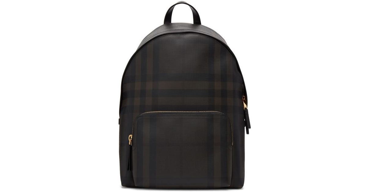44d1b90c010a Lyst - Burberry Brown Abbeydale London Check Backpack in Brown for Men