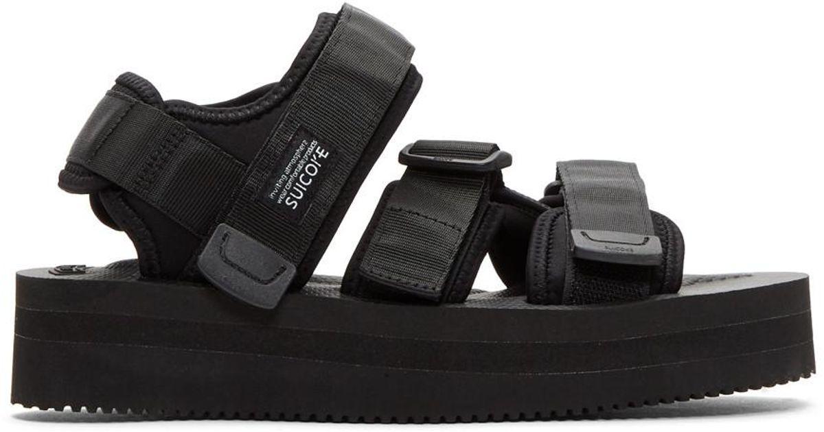 dd17998c6d0 Lyst - Suicoke Black Kisee-vpo Platform Sandals in Black