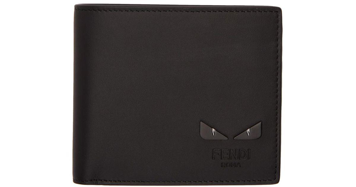 a63c755cb4 Fendi Black I See You Wallet in Black for Men - Lyst