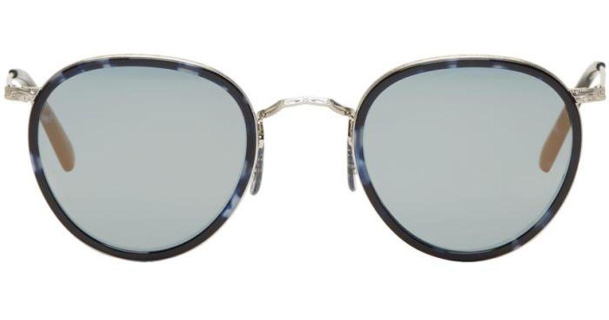 47c4b199d83 Lyst - Oliver Peoples Blue   Silver Vintage Mp-2 Sunglasses in Blue for Men