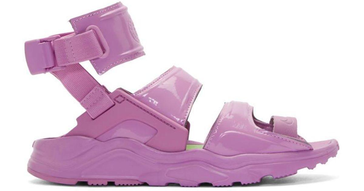 8c54d9489bc Lyst - Nike Purple Air Huarache Gladiator Sandals in Purple