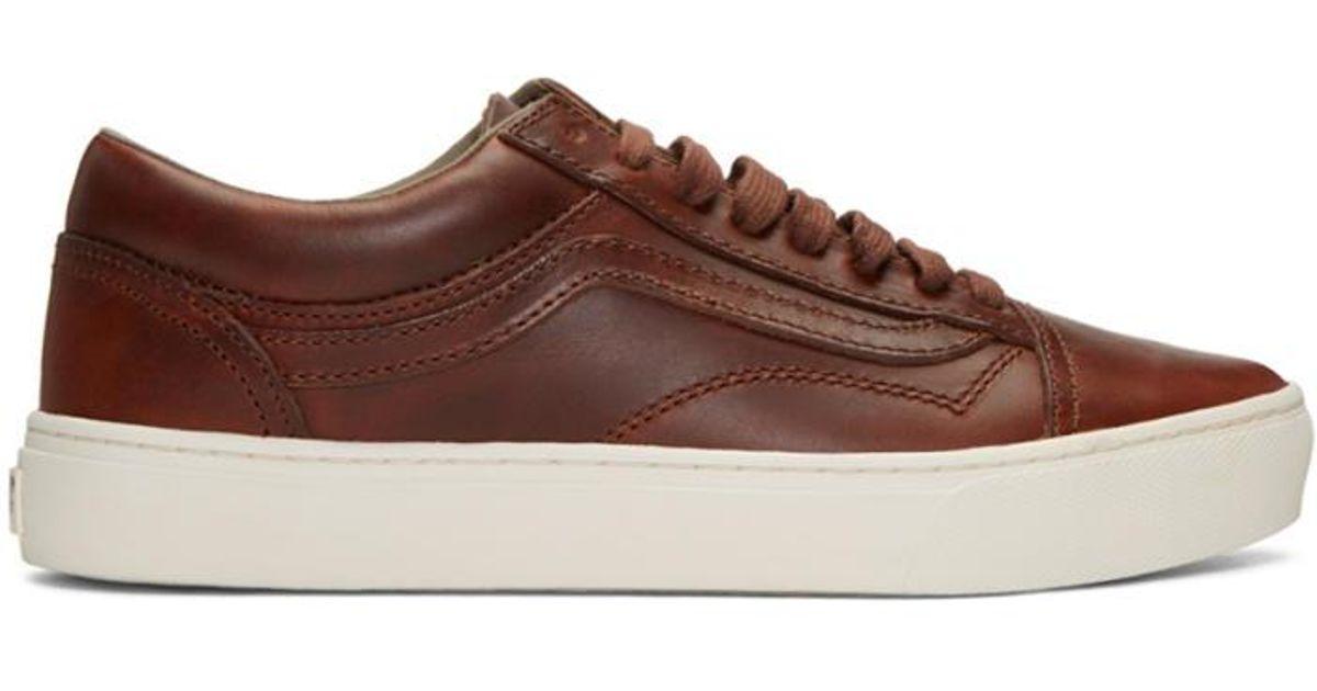 9eaaf6a3eafba8 Lyst - Vans Brown Horween Edition Old Skool Cup Lx Sneakers in Brown for Men