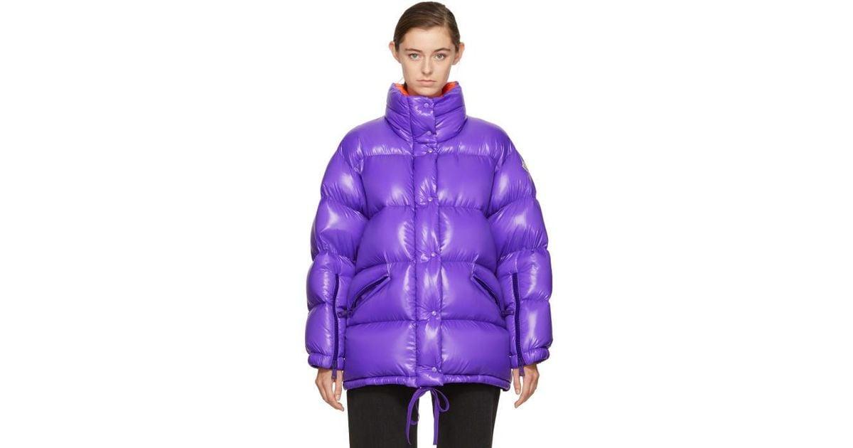 moncler purple puffer jacket
