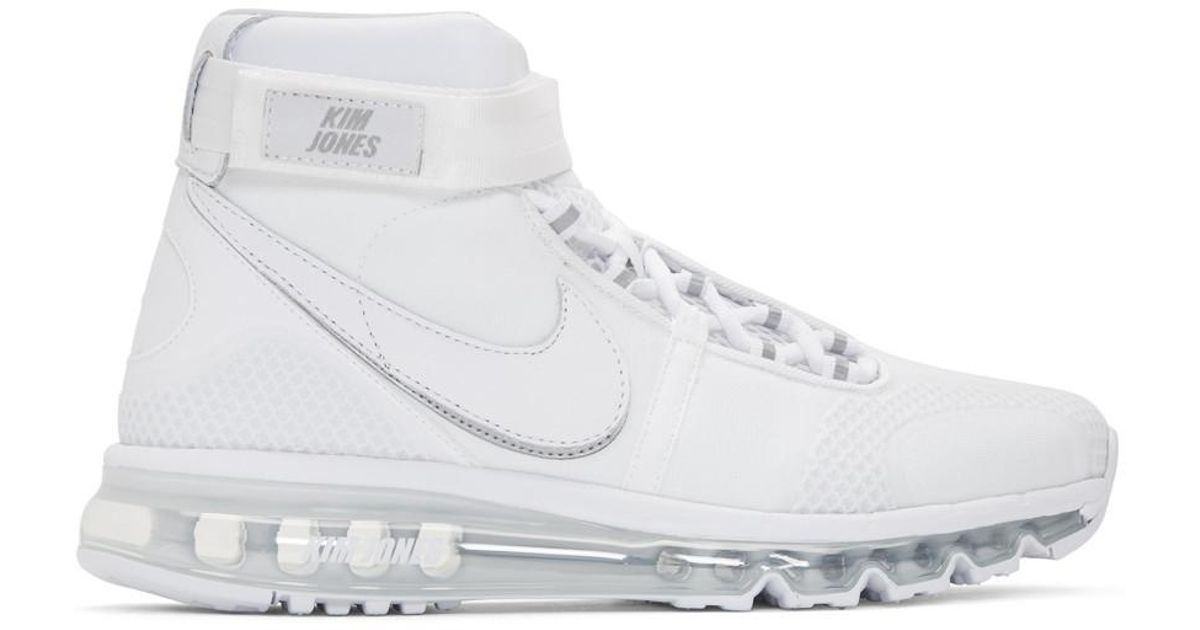 on sale be47b 89f40 Nike White Kim Jones Edition Air Max 360 High-top Sneakers in White for Men  - Lyst