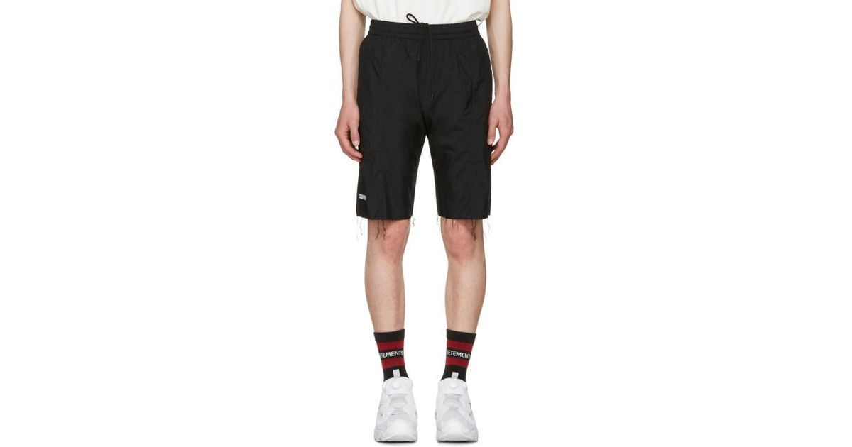 eaf704ea3d Vetements Black Reebok Edition Biker Track Shorts in Black for Men - Lyst