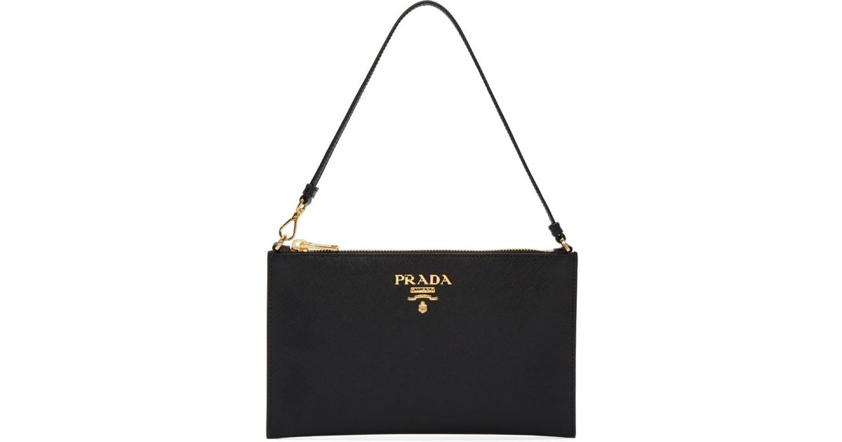 shop for genuine official sale top-rated newest Prada - Black Pouch Bag - Lyst