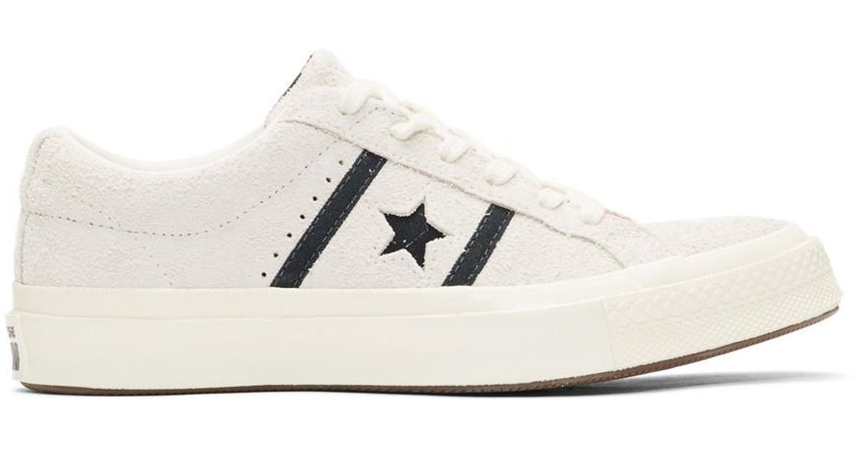 ffdeb9f6b77a82 Converse Off-white Suede One Star Academy Sneakers in White for Men - Lyst