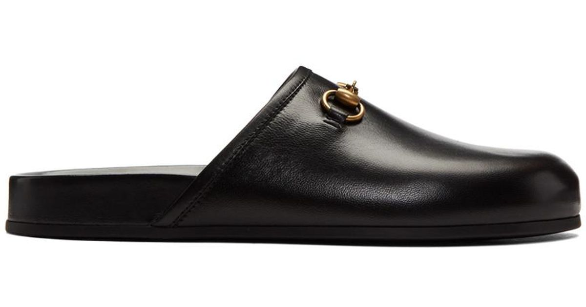 Gucci Black New River Clog Loafers OudpPf