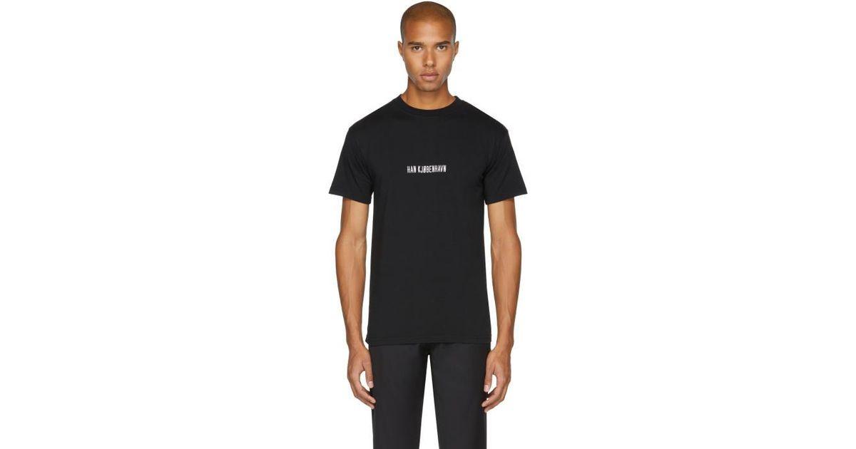 Lyst Han Kjobenhavn Black Logo Casual T Shirt In Black