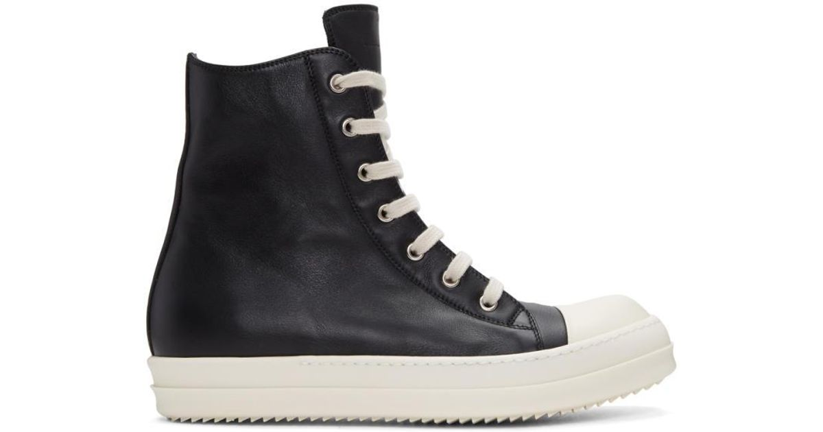 Black leather sneaker Rick Owens Clearance Pay With Visa yavUE