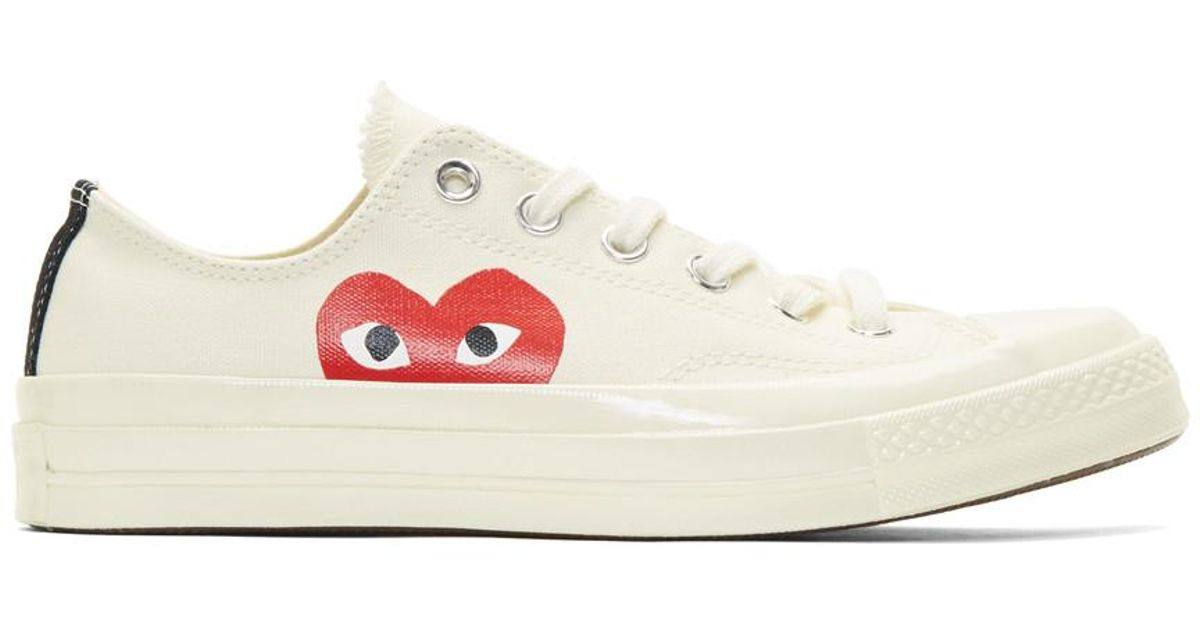 7e2f381acd9 Play Comme des Garçons Off-white Converse Edition Chuck Taylor All-star 70  Sneakers in White for Men - Lyst