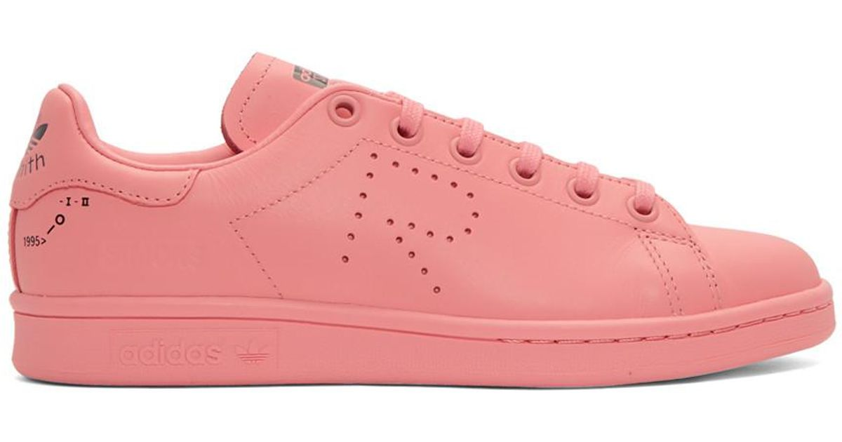 Raf Simons Pink Adidas Originals Edition Stan Smith Sneakers in Pink - Lyst 06bddce08