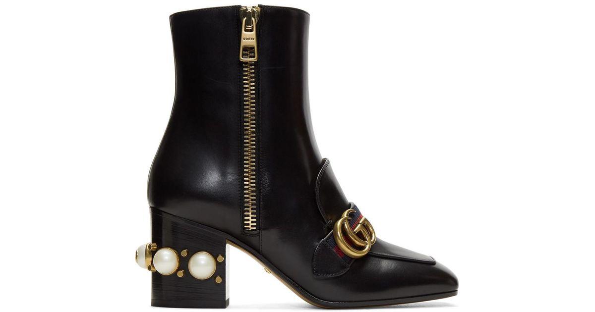 Gucci Pearl & Stud Peyton Boots ivb7I