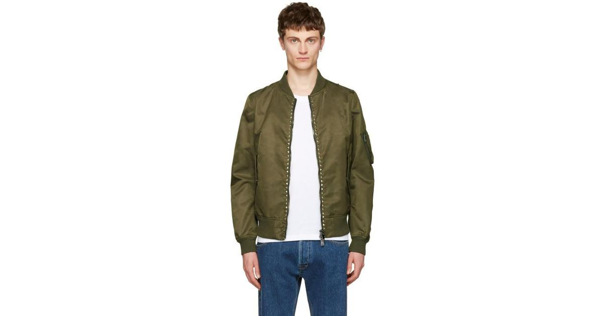 Excellent Cheap Online Pay With Paypal Red Rockstud Untitled 15 Bomber Jacket Valentino hsImgg