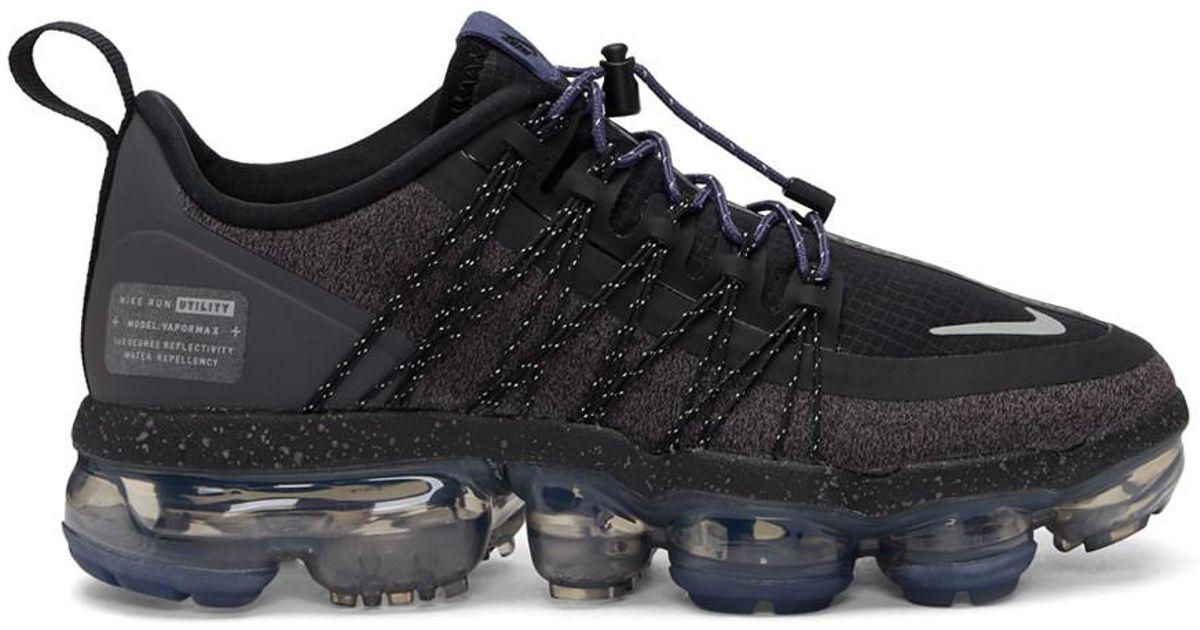 premium selection 46e4b 13be2 Nike Black And Purple Air Vapormax Run Utility Sneakers in Black - Lyst