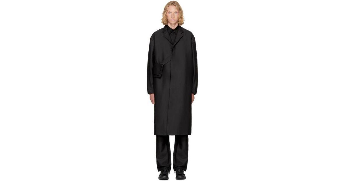 Lyst Kiko Kostadinov Black 3d Lab Coat In Black For Men