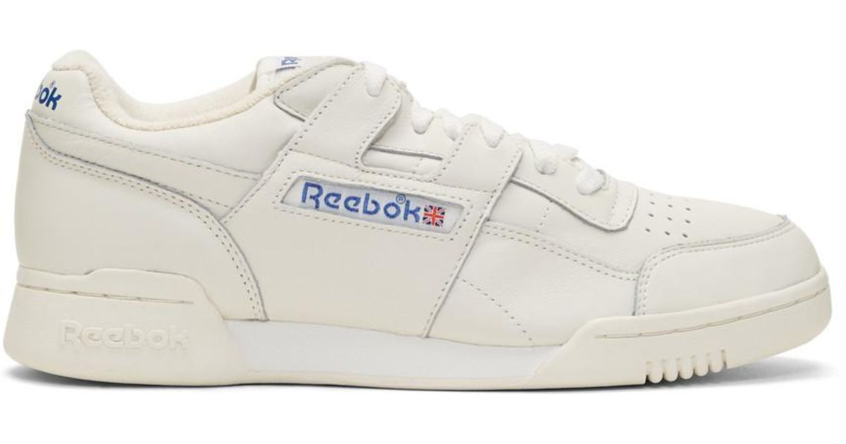 Lyst - Reebok Off-white Workout Plus Vintage Sneakers in White for Men d7531b41a