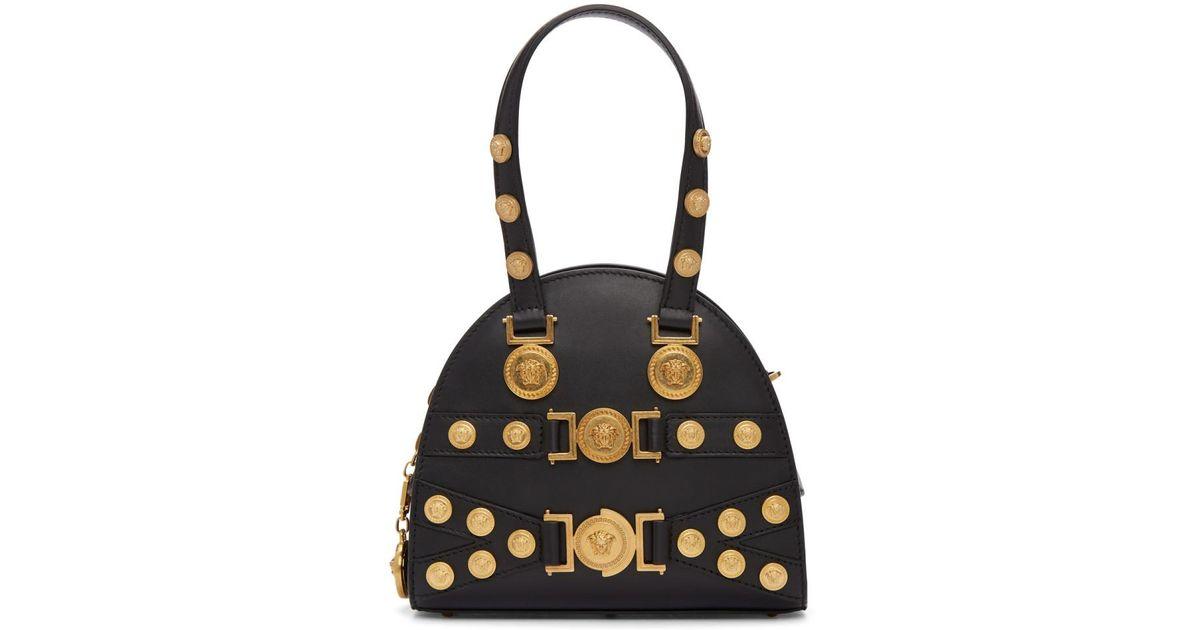 69b83d3662dc Lyst - Versace Black Small Medusa Bowling Bag in Black