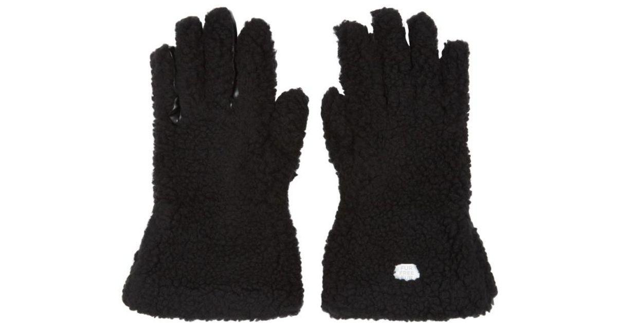 e3ccc6509 Lyst - Stella McCartney Black Faux-fur Gloves in Black