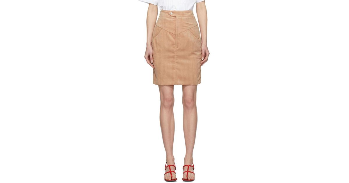 ccec3dd7ffcf Lyst - Isabel Marant Pink Marsh Skirt