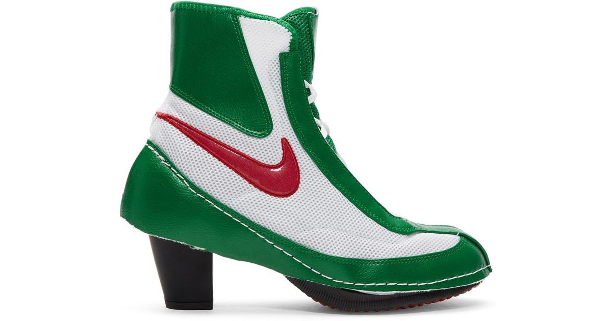 new product adc0f 3f6f7 Comme des Garçons Heeled Machomai Boxing Boot in Green - Lyst
