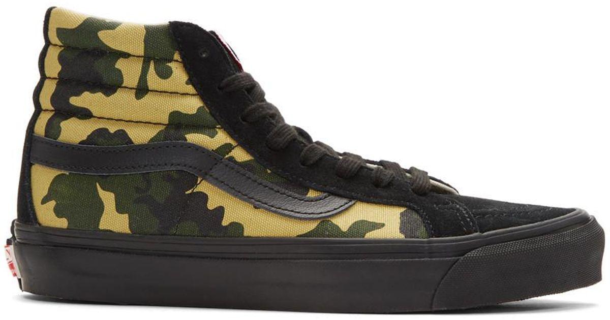 f3d595e9a18e9b Lyst - Vans Black And Green Camo Og Sk8-hi Lx High-top Sneakers for Men