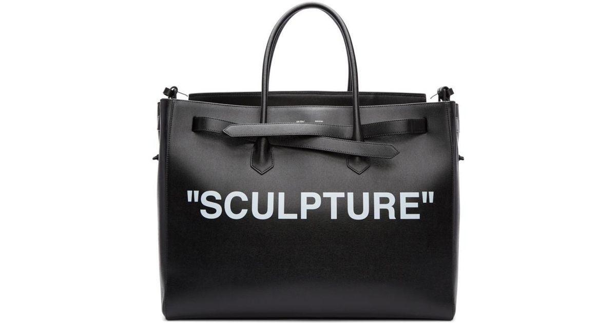 310eeadef Off-White c/o Virgil Abloh Black Xl 'sculpture' Cut Flap Tote in Black -  Lyst