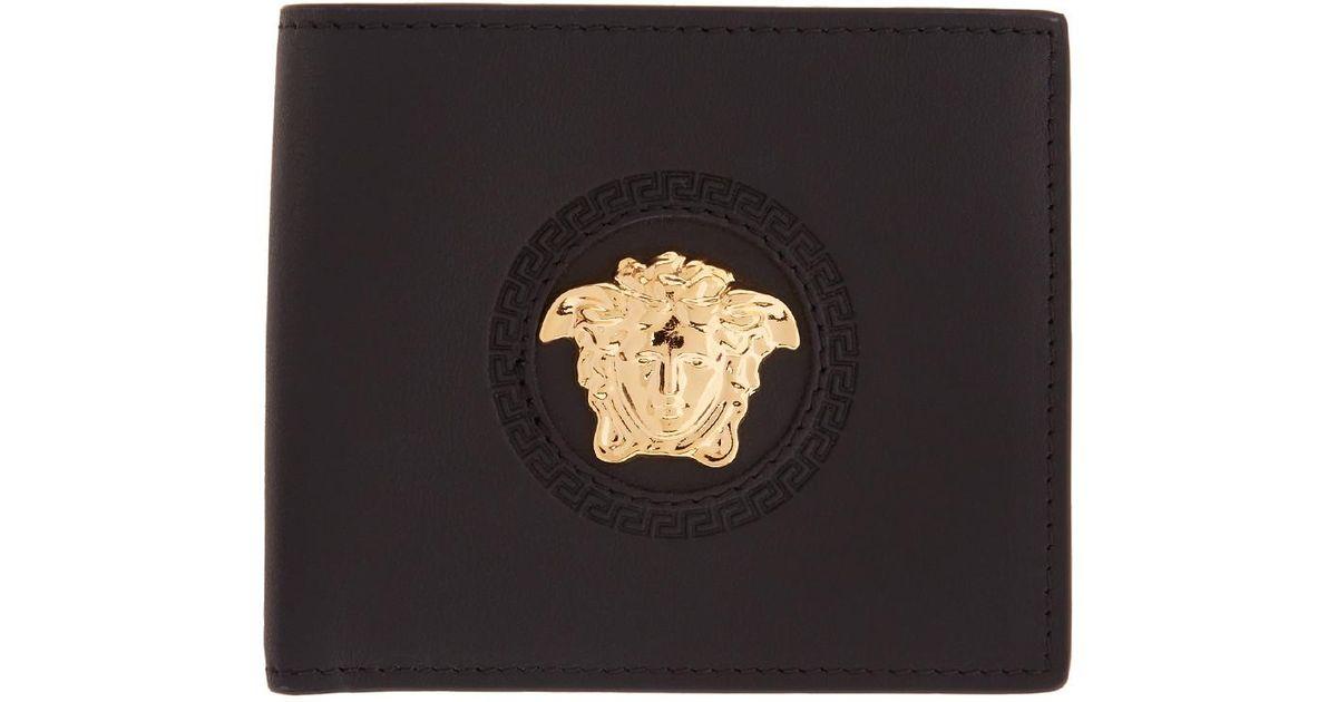 a4cde706530b Lyst - Portefeuille noir Medusa Circle Versace pour homme en coloris Noir