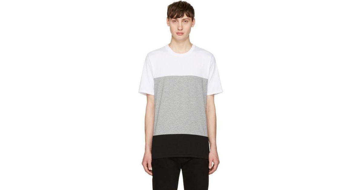 Lyst rag bone white grey precision t shirt in white for Rag and bone white t shirt